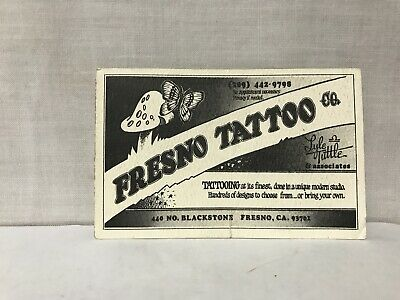 Rare Lyle Tuttle Tattoo Artist Business Card Fresno Ca