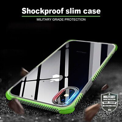 Ultra Slim Shockproof Bumper Back Case Cover for iPhone 7 8 Plus X XS MAX XR