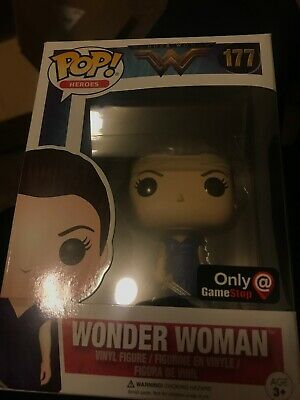 Funko POP! Wonder Woman Blue Dress #177 Game Stop Exclusive - New In Box