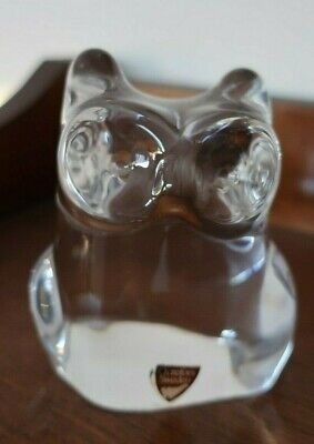 ORREFORS Sweden art glass OWL paperweight ornament signed
