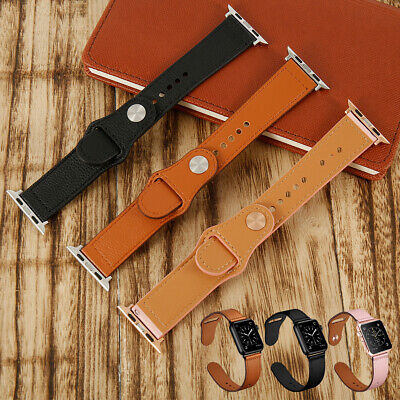 Genuine Leather Band Bracelet Strap For Apple Watch Series 4 3 2 1 42mm/44mm