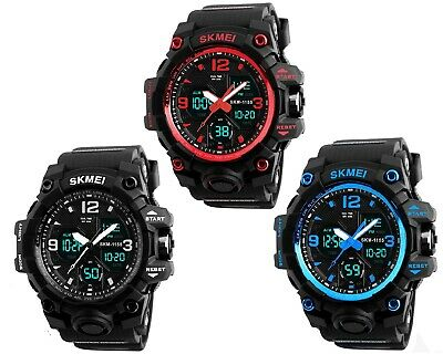 SKMEI Top Brand Sport Military Men's Watch Digital Water Resistant LED Watches