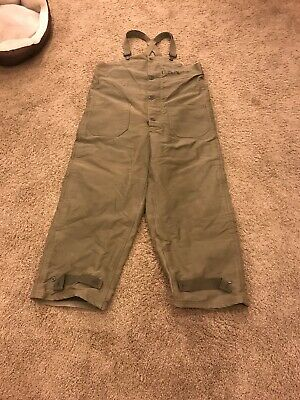 RARE 40'S Vintage WW2 US NAVY Deck Pants Trousers N1 US Military Bibs