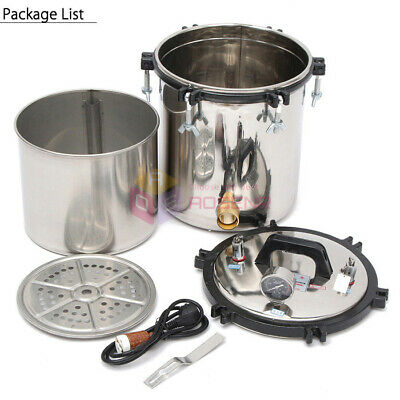 18L Portable Stainless Steel Steam Autoclave Sterilizer Medical Sterilization