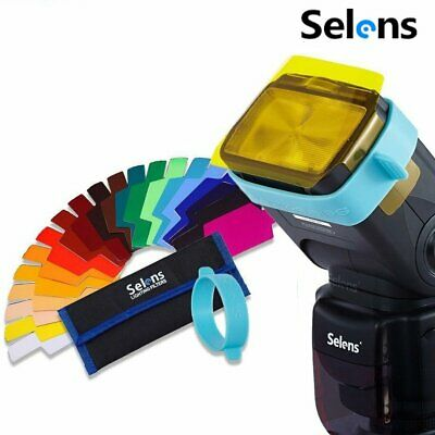 Selens SE-CG20 Speedlite Flash Color Balance Gel Filter Universal Photography
