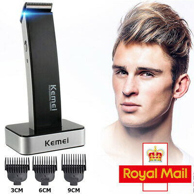 Men KEMEI Cordless Rechargeable Electric Hair Clipper Trimmer Beard Shaver Razor