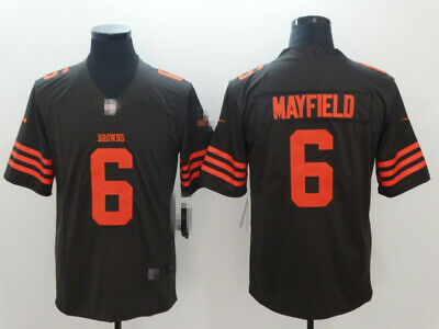 buy popular d8fcb 1a388 NEW MENS CLEVELAND Browns #6 Baker Mayfield New Color Rush Legend Jersey  Sewn on