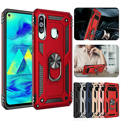For Samsung Galaxy M40 A60 Hybrid Shockproof Armor Ring Holder Stand Case Cover