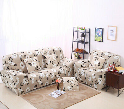 1 2 3 4 Seater Floral Stretch Sofa Cover Settee Slipcover Protector Chair Couch