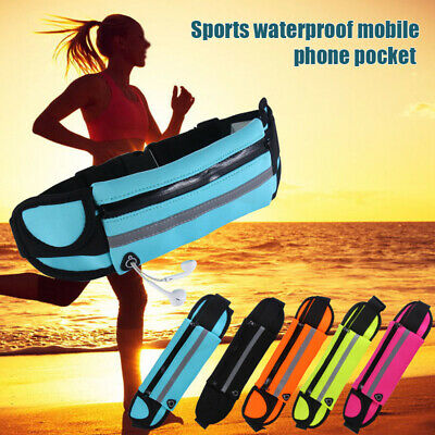 Waterproof Running Belt Waist Pouch Zip Bum Bag Fanny Pack Outdoor Sports Hiking