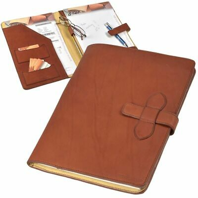 Ruitertassen Writing A4 Leather Braun Conference Folder Orga Ultimate Classy