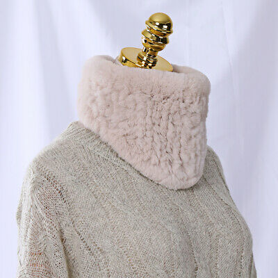 Winter Knit Rex Rabbit Fur Scarf Headband Girls Ring Cowl Snood Scarves Triangle