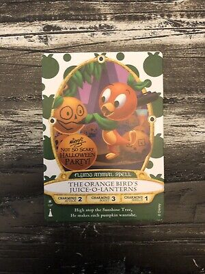 2018 Orange Bird Disney Halloween Sorcerers Magic Kingdom SOTMK Card MNSSHP