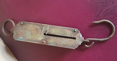 Brass vintage Victorian antique Salters spring balance weighing scales