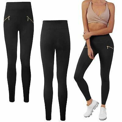 Womens Ladies High Waist Fleece Legging Slim Skinny Fit Thermal Thick Trousers