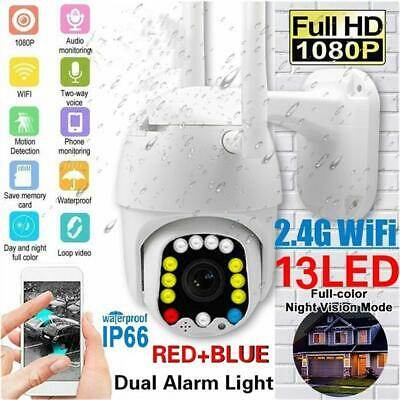 HD 1080P LED 5X Zoom WiFi Camera IP66 Auto PTZ Smart Home Security IR Motion Cam