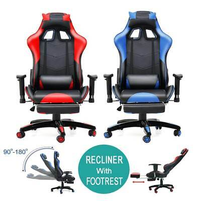 Executive Home Office Chair with Footrest Gaming Racing Computer Desk Recliner