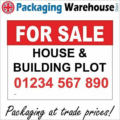 Cm078 For Sale House & Building Plot Telephone Tel Number Property Board Sign