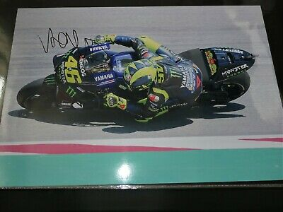 A3+ Professional One off photo hand signed by Valentino Rossi