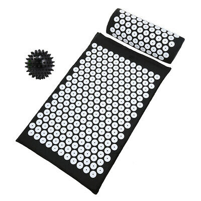 Acupressure Mat with Pillow & Ball Set for Relieving Stress Back & Neck G6J0