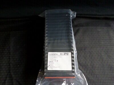 (20) Corning 384-Well Black TC Treated Assay Plate Flat Bottom Clear Lid 3712