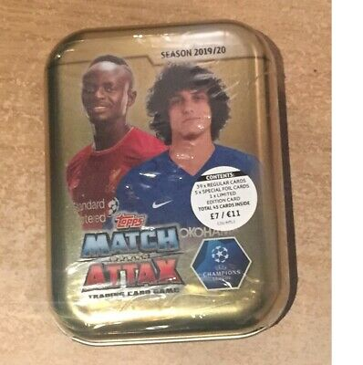 Match Attax 2019/20 Mini Tin new 39 regular card, 5 special & 1 Limited edition