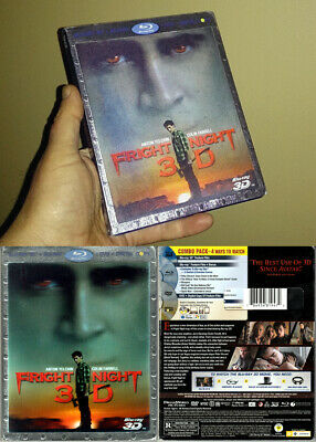 3-Disc Blu-ray 2D+3D+DVD Combo FRIGHT NIGHT 2011 +Lenticular SLIPCOVER OOP A/B/C