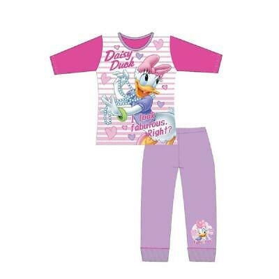 Girls Kids Daisy Duck Long Sleeve Pyjamas pjs Mickey Mouse Pyjamas Age 4-10Years