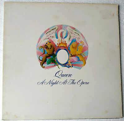QUEEN - A Night at the Opera - RARE U.K. 1975 Press EMBOSSED Sleeve