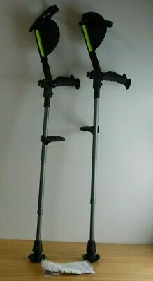 Ergobaum Forearm Crutches - Pair (2) Units with info and batteries