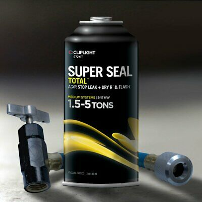 Cliplight Super Seal Total 972KIT - Permanently Seals & Prevents Leaks in A/C &