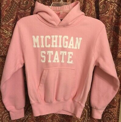 Michigan State MSU Spartans Pink Sweatshirt - MV Pro Weave - Womens Medium