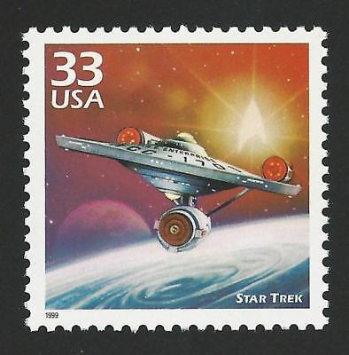 STAR TREK Starship USS Enterprise Discovery Kirk Spock Sulu US Stamp MINT! 3188e