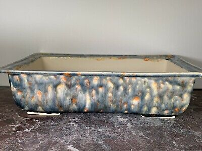 Goldfish Pond #2047.  Large Handmade Bonsai Pot. Wired With Screens. Porcelain