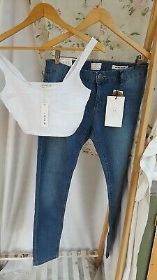 Womens s/10 top & 12 jeggins jeans Cotton On New with tags bulk lot cheap outfit
