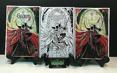 Spawn #300 3 Set J Scott Campbell Covers Regular Virgin B&W Variant 1St Print Nm