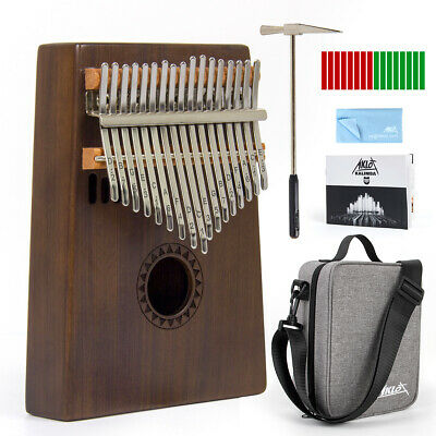 Aklot Kalimba Thumb Piano Mbira 17 Key with Padded Gig Bag Tuner Hammer