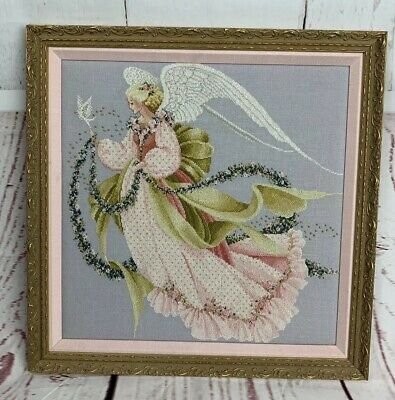 Angel Of Summer Finished Cross Stitch Framed Beaded Gorgeous!