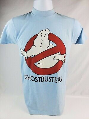 Vintage 1984 GhostbustersT-Shirt  size Baby Blue Youth Size Small