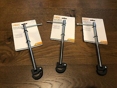 """NEW x3 Lot 3 Bulk HDX 10 in. Basin Wrench 1000 012 716 Faucet Nut Wrench 10"""""""