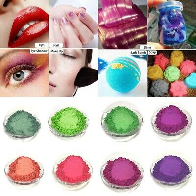 60 Color 50g Metallic Pearl Effect Natural Mica Pigment Powder Makeup Manicure