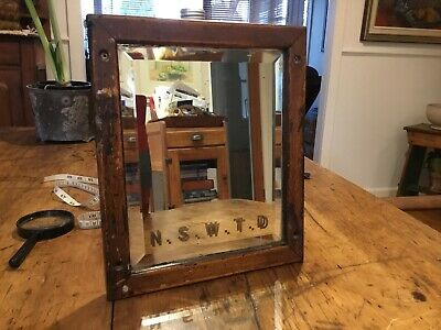 Antique Railway New South Wales Transport Department Mirror