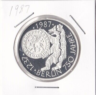 Germany 1987 10 Mark Silver Proof Coin Free Post