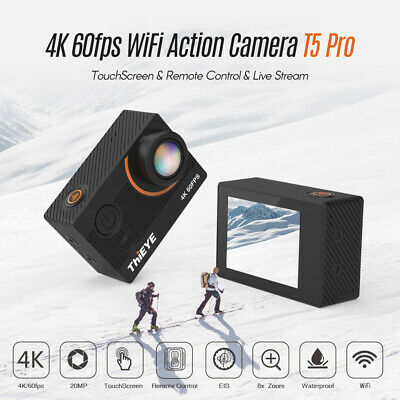 ThiEYE T5 Pro 4K Action Camera LCD 20MP 8X 170° Wide Angle - 60M Waterproof C4Z0