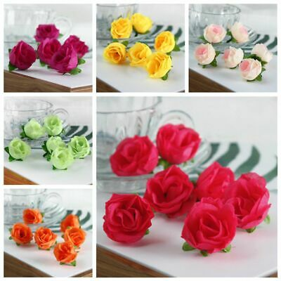 10-50Pcs Silk Rose Bud Floral Heads Synthetic Flowers Mini Rose Buds