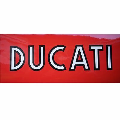 2x Aufkleber Sticker Ducati Outlined 2-farbig #0423