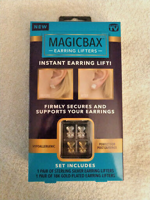 Magic Bax Earring Lifters - 2 Pairs of Adjustable Hypoallergenic Earring Lifts