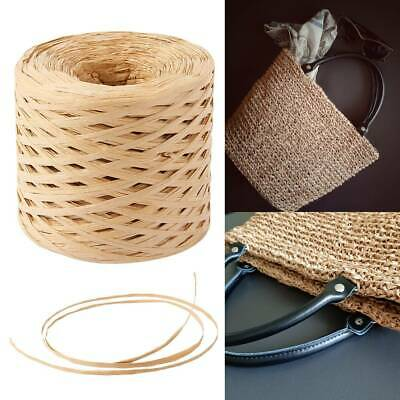 HOT 200m Cord Rope  DIY Gift Raffia Paper Ribbon Wrapping Scrapbooking Coffee AU