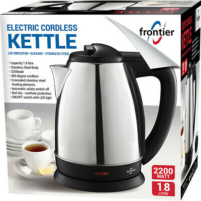 Electric Cordless Stainless Steel Kettle 1.8l 2200w