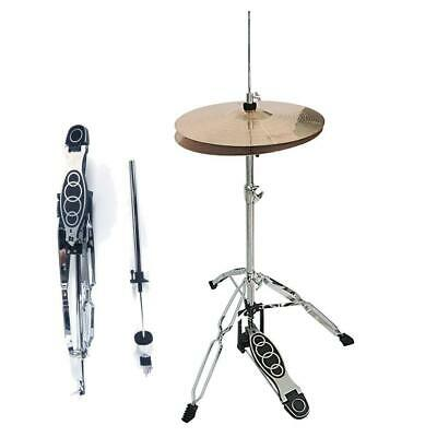 Hot Drum High Hat Cymbal Stand Double Braced Chrome Parts Accessories Adjustable